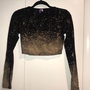 LF long sleeve crop top